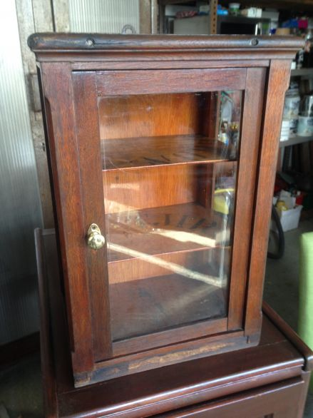 Beautiful Small Antique Display Cabinet