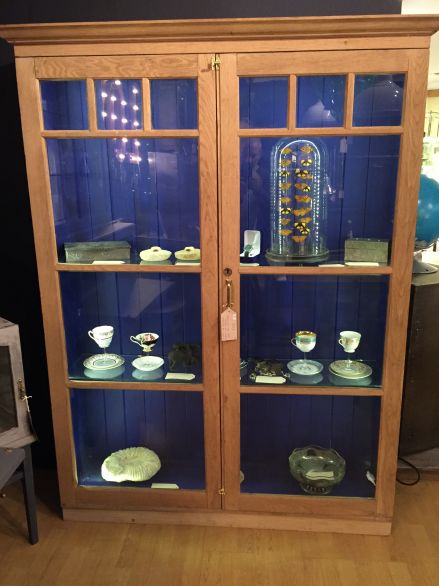 Edwardian Oak Display Cabinet