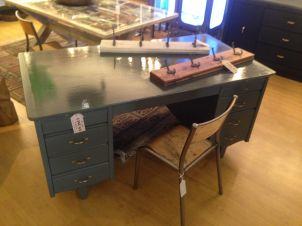 Upcycled Grey Desk