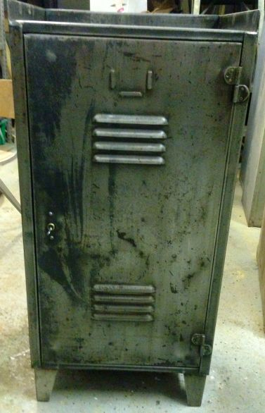 Vintage Industrial Metal Locker with Drawer